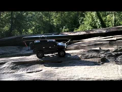 RC 4x4 Axial SCX10 Hummer H2 1:10 Scale RC 4x4 River Crossing, Rock Climbing and some trailing.