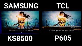 WonderWoman 4K HDR TCL vs Samsung comparison