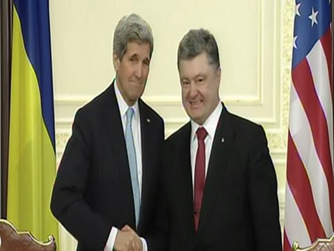 Kerry, European Leaders Push Ukraine Peace Plans