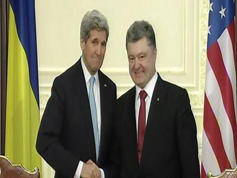 Kerry, European Leaders Push Ukraine Peace Plans