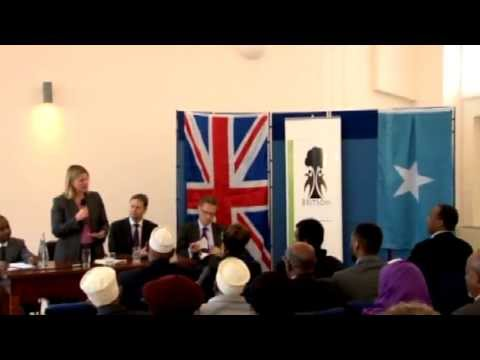 NEWS UK's DFID Justine Greening met Somali Diaspora at West London, Abdirazak Socoto SNTV London