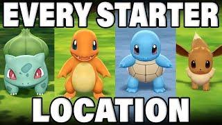 Where To CATCH All Kanto Starter Pokemon In Pokemon Let's Go!