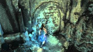 Rise of The Tomb Raider - The Lost Tomb: Raise Water Puzzle (Moving Raft) Action Set Piece Cutscene
