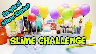 Balondan Ne Çıkarsa Slime Challenge #2 - Biz Yaptık En Güzel Slime' ı Siz Seçin
