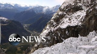Europe's most iconic mountain is a climate change warning l ABC News