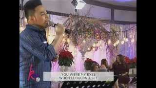 Jed Madela sings Because You Love Me on Kris TV