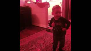 Two year old busting a move