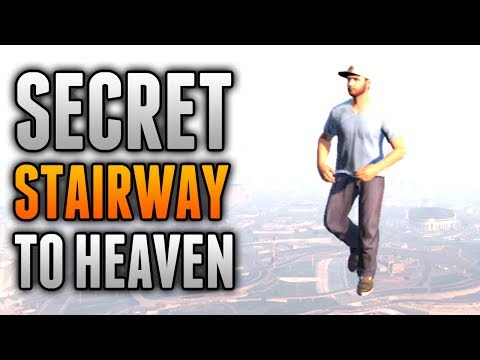 "GTA 5 Glitches - Secret Stairway To Heaven! - Invisible Stairs To The Sky Barrier ""GTA 5 Glitches"""