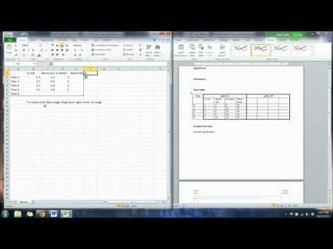 how to make a line graph on microsoft word