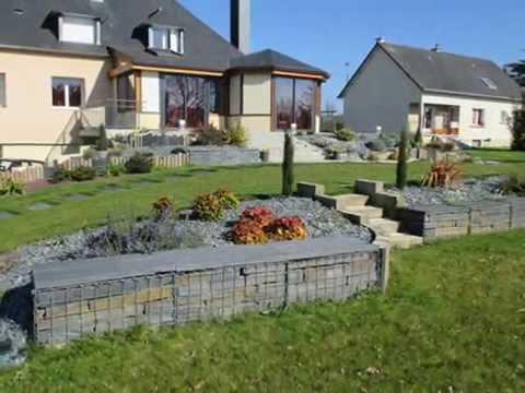 amenagement de jardin sur plusieurs niveaux youtube. Black Bedroom Furniture Sets. Home Design Ideas