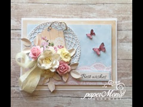 Romantic card with AltairArt papers, step by step tutorial