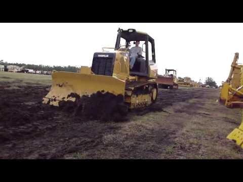 New D3K bulldozer Grading