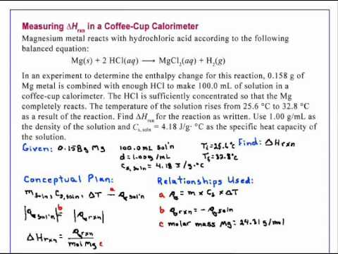 Calorimeter Problems Coffee Cup a Coffee Cup Calorimeter