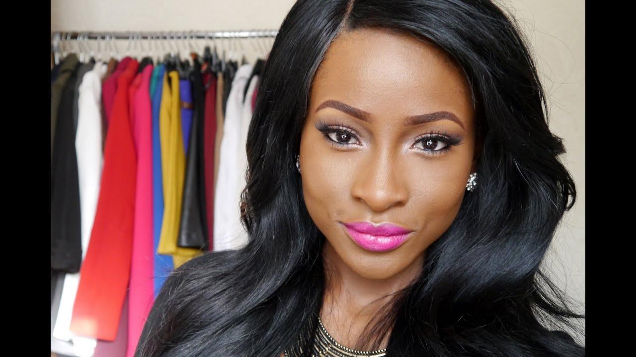 Makeup Tutorial- Neutral Eyes, Bold Lips - YouTube