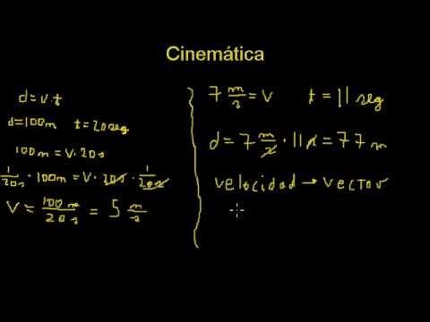 Cinemática - Velocidad y Rapidez Concepto y Ejemplos (1)