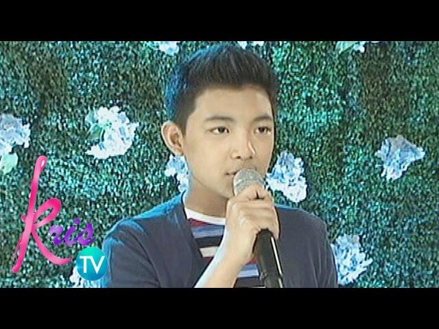 Kris TV: Darren Espanto sings 'When You Believe'