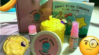 Kawaii Slime Company Slime Review| Banana Milkshake Scented!|