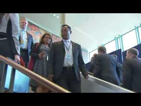 Президент Путин прибыл в ООН