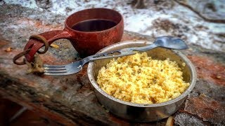 The BEST Scrambled Eggs - Backcountry Cooking in FREEZING RAIN