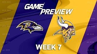 Baltimore Ravens vs. Minnesota Vikings | Week 7 Game Preview | Move the Sticks