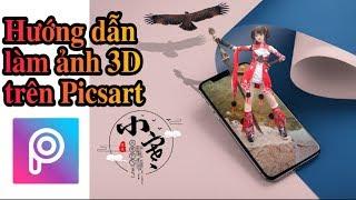 Hướng dẫn ghép ảnh 3D trên Picsart | Tuân Tóc Tém
