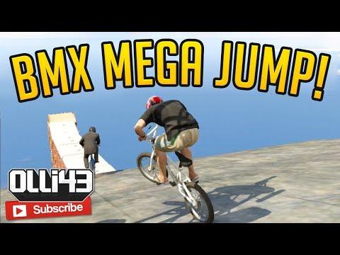 BMX MEGA JUMP! Olli43 vs Geo23 - Episode 2 (GTA 5 Funny Moments)