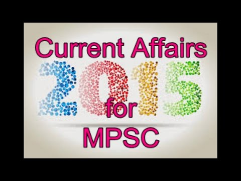 Mpsc Current Affairs Quiz In Marathi 2015 video