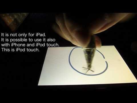 iPad / iPhone DIY Superfine Stylus Pen Painting movie2 (English) (2/9 e)
