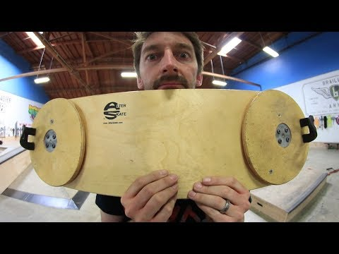 THE DOUBLE LAZY SUSAN SKATEBOARD!!!! | YOU MAKE IT WE SKATE IT EPISODE 204