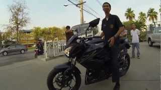 2013-02-11 Win and His New Kawasaki Z250