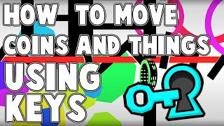 HOW TO MOVE AND ACTIVATE COINS WITH KEYS! Geometry Dash 2.0 Tutorial