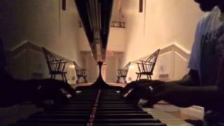 Noodling on the grand piano