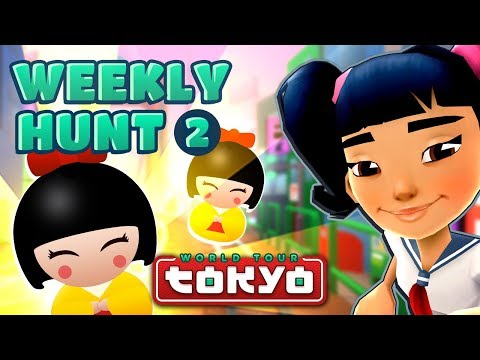 Subway Surfers Weekly Hunt - Collecting Hunt Tokens in Tokyo (Week 2)