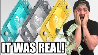 SWITCH LITE REACTION - How Nintendo Will Print More Money