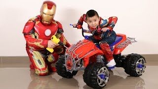 SpiderMan New Battery Powered Ride On Car From Iron Man Ckn Toys