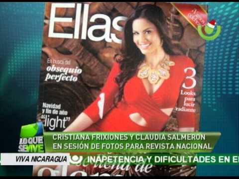 Cristiana Frixione y Claudia Salmerón en sesión de fotos para revisa nacional