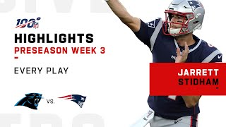 Every Jarrett Stidham Play vs. Panthers | NFL 2019 Highlights