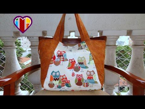 Bolsa/Sacola das Corujas - Bolsa/sacola em tecido - Maria Adna Ateliê - Bolsa/sacola
