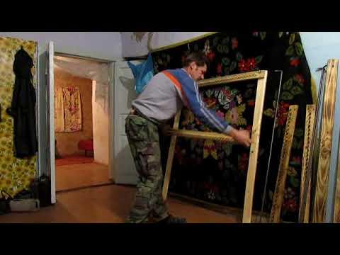 Дом в глуши.Ткацкий станок -рамка, для ковриков .