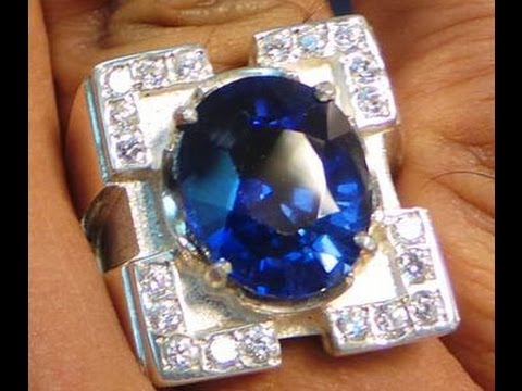 Natural Unheated Blue Sapphire Ring Sri Lanka video