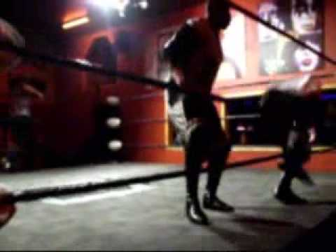 Compton Street Fight: JT Evans vs Badd Blood PNW Television Ttle Match PT.1 Video