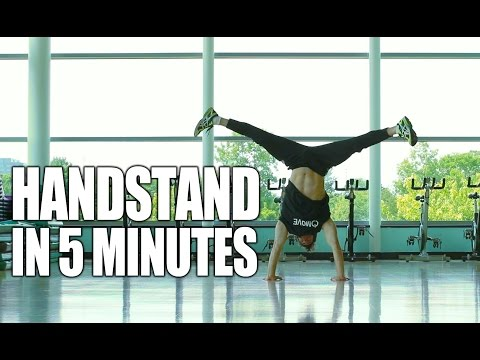 how to learn to walk in a handstand