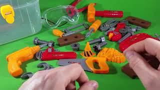 #toytoolsetパワーツールのおもちゃの子供フレンドリーな#fun黒とデッカーのおもちゃを再生