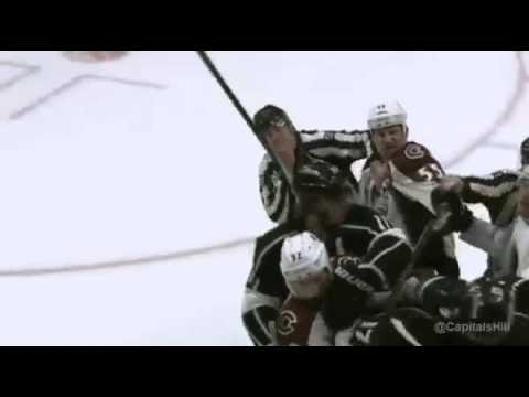 Milan Lucic punches a referee