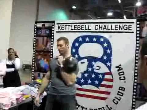 Andrew Durniat lifts the worlds heaviest competition size kettlebell Image 1