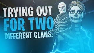I Tried Out For The Worst Clans Without (OG Skins) And This Happened...