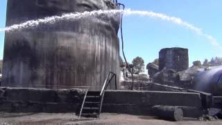Сгоревшая  нефтебаза база БРСМ  .12 июня 12:00.