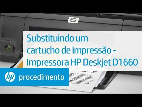 Substituir cartuchos na HP Deskjet D1660
