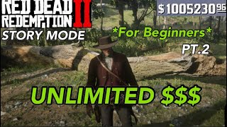 Red Dead Redemption 2- UNLIMITED MONEY GLITCH *For Beginners* (Story Mode)