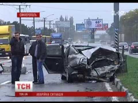 Двоє людей загинули, троє травмовані у потрійній ДТП  у Сімферополі